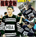 EXO By Air HBA Hood Hoodie Long Sleeve Stripe Letter 100% Cotton Sweatshirts Fashion Clothing EXO Kpop bts Hoodies & Sweatshirts