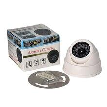 FGHGF Home Family Outdoor CCTV Camera Fake Dummy Camera Surveillance Security Dome Mini Dummy Camera 26 Flashing LED Light White