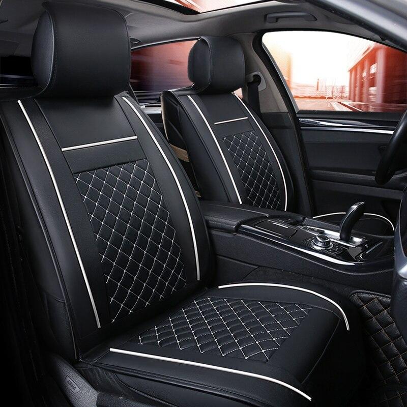 (Avant + Arrière) luxe housse de siège de voiture En Cuir 4 Saisons Pour Renault Kadjar Koleos Captur Megane 2 3 Duster Kangoo Koloe style