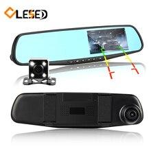 Двойной объектив камеры автомобиля зеркало заднего вида авто DVRs автомобили DVR парковка видеорегистратор регистратор видеорегистратор Full HD 1080 P ночное видение