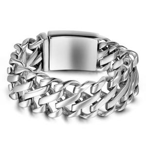 Image 5 - Punk Rock Dad Mens Gifts Massive Large Bracelet For Men Heavy Polished Stainless Steel Link Chain Jewelry Friendship Bracelets