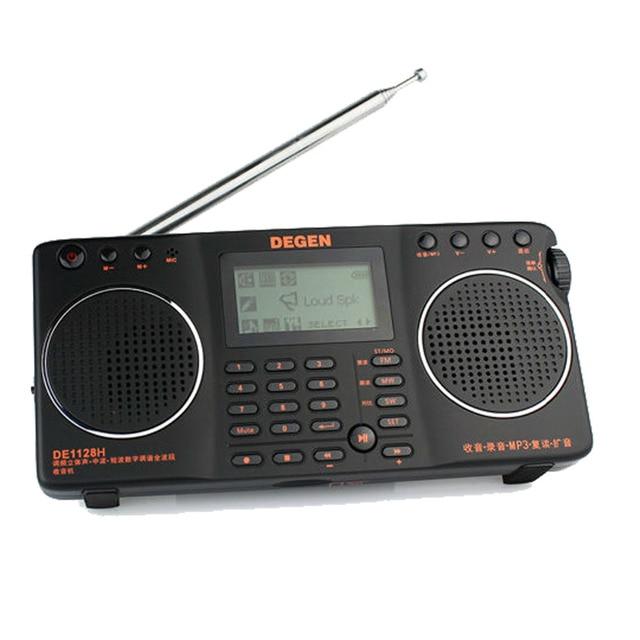 Degen DE1128H Радио DSP FM MW SW 4 ГБ 8 в 1 Портативный Интеллектуальные Многофункциональный Светодиодный Стерео Радио Приемник A0912A