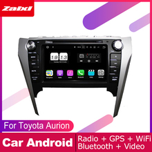 ZaiXi 2 DIN Auto DVD Player GPS Navi Navigation For Toyota Aurion 2011~2017 Car Android Multimedia System Screen Radio Stereo цены онлайн