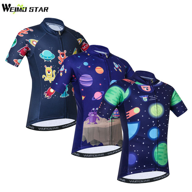 9144e831c Weimostar Kids Cycling Jersey Tops Ropa Ciclismo Children Short Sleeve  Cycling Clothing Boys Girls Bicycle Shirts