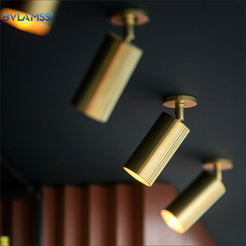 Modern Golden Ceiling Lights Wrought Aluminium LED Ceiling Lamps Rail Track Lamps For Living Room Kitchen Home Lighting Fixtures