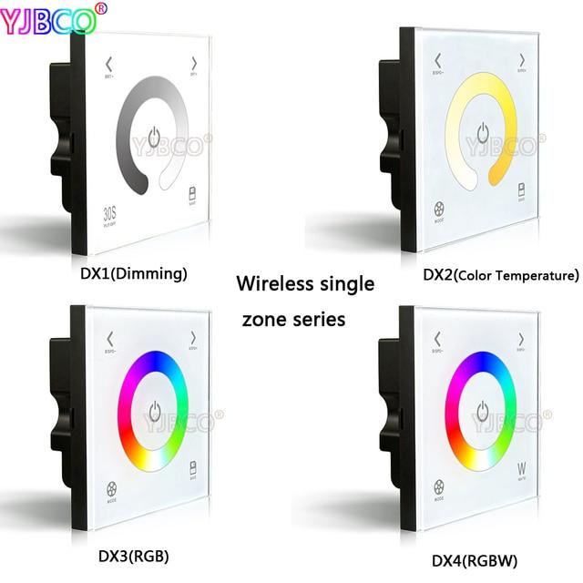 Ltech 2,4G Wireless DX1/DX2/DX3/DX4 dimmen CT RGBW touch panel wand ...