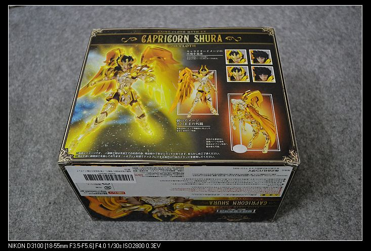New A BANDAI Tamashii Nations Saint Cloth Myth Action Figure Capricorn Shura GOD CLOTH from Saint Seiya Soul Of Gold 2