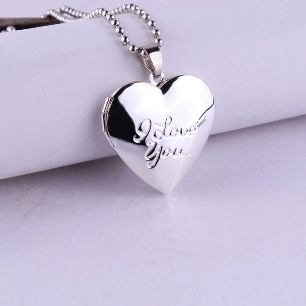 عيد الحب عاشق هدية الحيوان إطارات الصور يمكن فتح المنجد القلائد القلب قلادة قلادة مجوهرات للنساء صديقة هدية #13