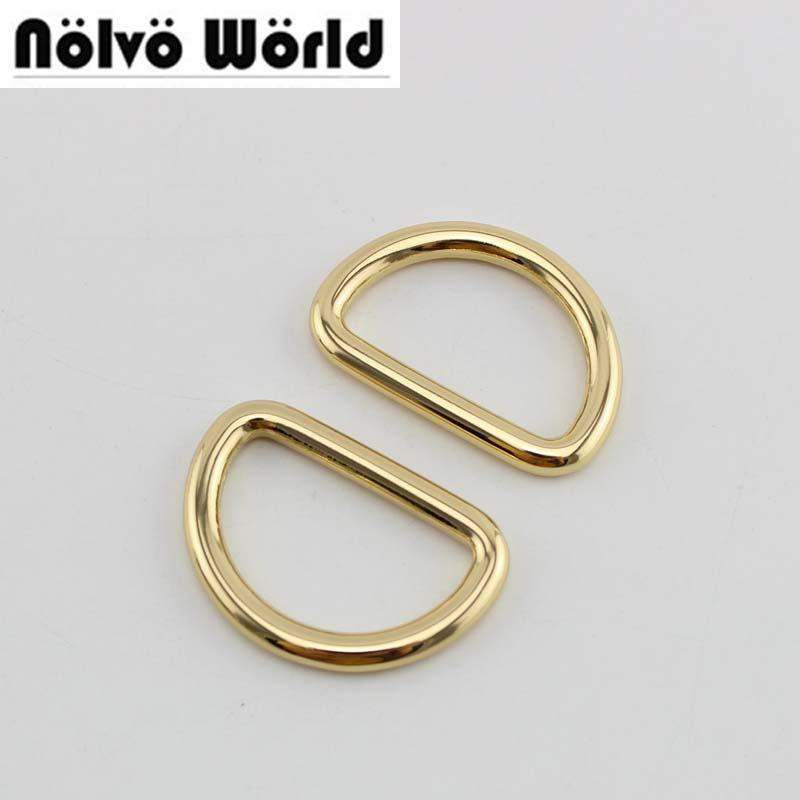 50pcs 4 colors 4 6mm thick 32X19mm 1 1 4 bags handbags welded d ring metal