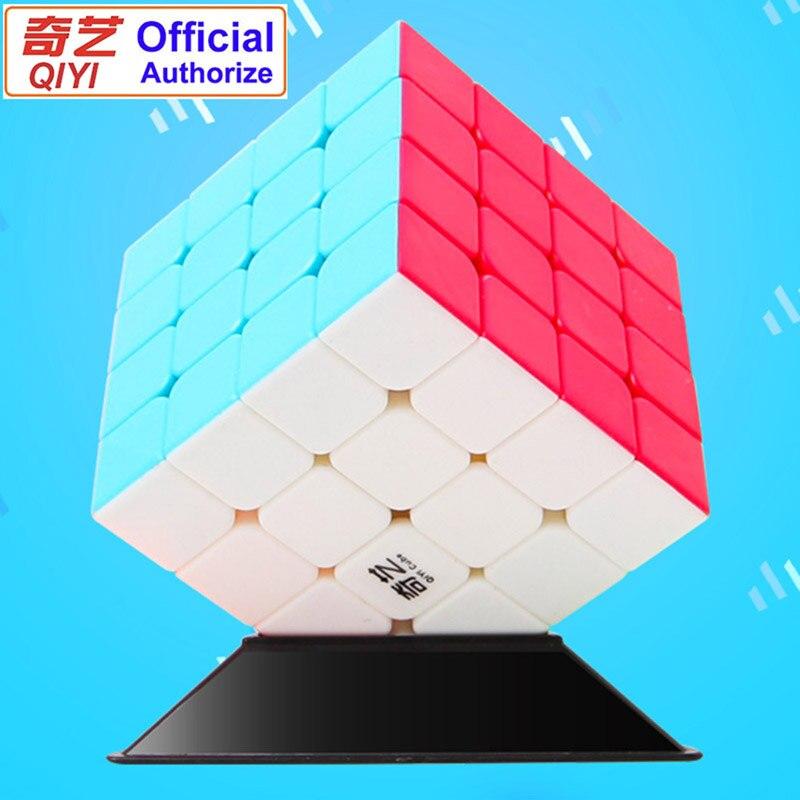 QIYI QiYuan S 4x4x4 4x4 Velocidade Cubes Puzzles Cubo Mágico Profissional 4 Por 4 cubo de velocidade Brinquedos Das Crianças Cor Sólida Cubo Magico QY4S
