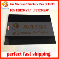 Original NEW LCD Assembly For Microsoft Surface Pro 3 1631 TOM12H20 V1 1 LTL120QL01 LCD Display