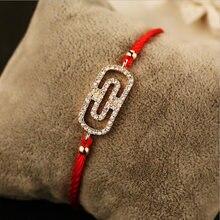 Бесплатная доставка новые красные браслеты с головой на удачу