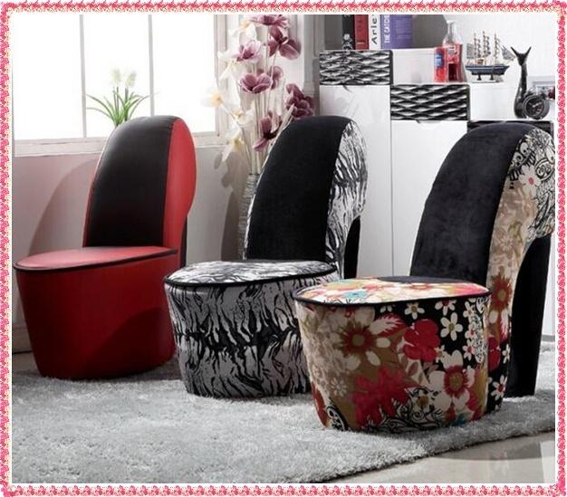 Moda sapatos de salto alto único sofá sofá da tela de lazer móveis venda quente