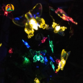 Novelty Animal Style Solar LED String Lights Butterfly Energy Saving Solar Lamps Specially for Home Garden Street Road Decor.