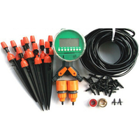 30m 4/7mm Micro Drip Irrigation System Automatic Timing Irrigation System Irrigation Timer Suits Drip Irrigation System