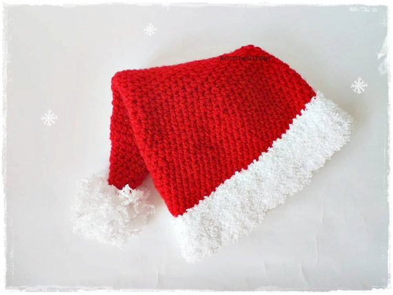 366ba71c4c2c9 100% cotton Newborn Santa Hat   Baby Santa Hat   Babys First Christmas hat    Newborn Photo Prop   Long Tailed Santa Hat NB Adult-in Hats   Caps from  Mother ...