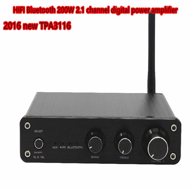 TIANCOOLKEI XL 2.1BL 2.1 kanal Bluetooth 4.0 50W + 50W + 100 W/Subwoofer TPA3116D2 ev hoparlör amplifikatör|Amplifikatör|Tüketici Elektroniği - title=