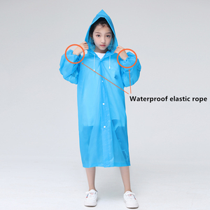 Image 2 - Keconutbear Fashion EVA Children Raincoat Thickened Waterproof Rain Coat Kids Clear Transparent Tour Waterproof Rainwear Suit