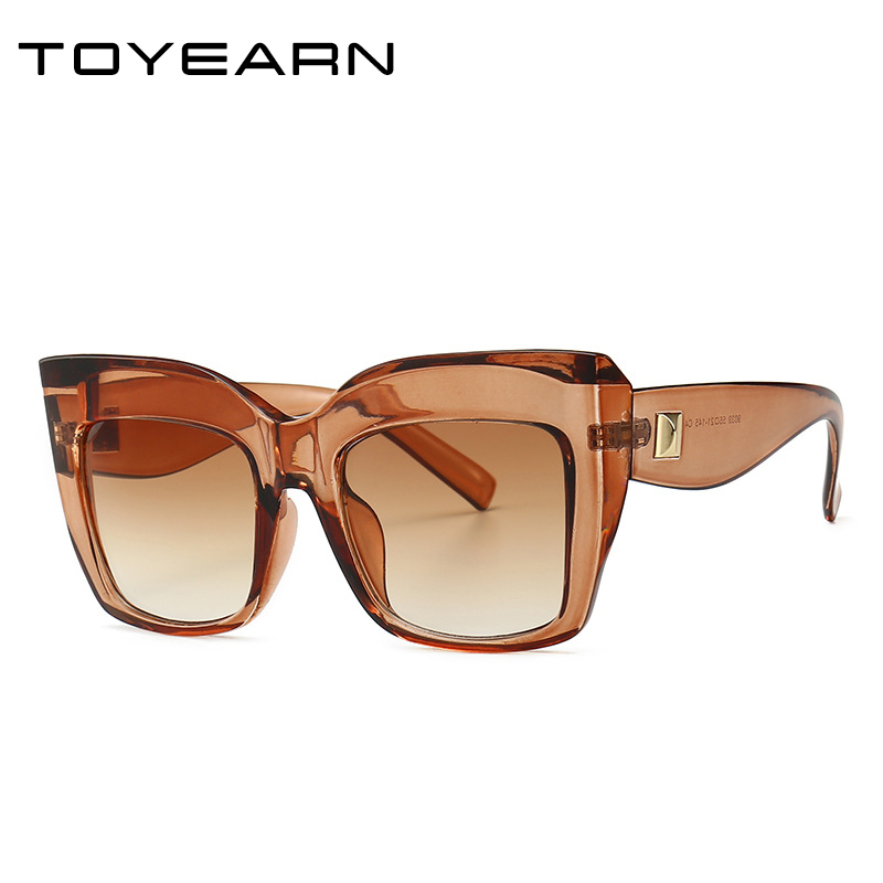 Luxury Brand Design Ladies Oversized Cat Eye Sunglasses Women Vintage Sun Glasses For Female Shades UV400 Eyewear Oculos De Sol