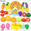 24 Pieces Kitchen Dinner Cutting Treats Fun Play Food Set Living Toys for Kids Game Toy Gift