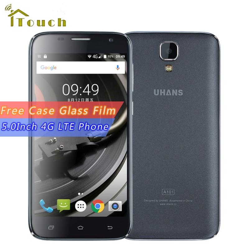 bilder für [Freies Fall Glass Film] UHANS A101 Smartphone MTK6737 Quad Core 5,0 Zoll 1280x720 Android 6.0 1 GB RAM 8 GB ROM 4G LTE Handy