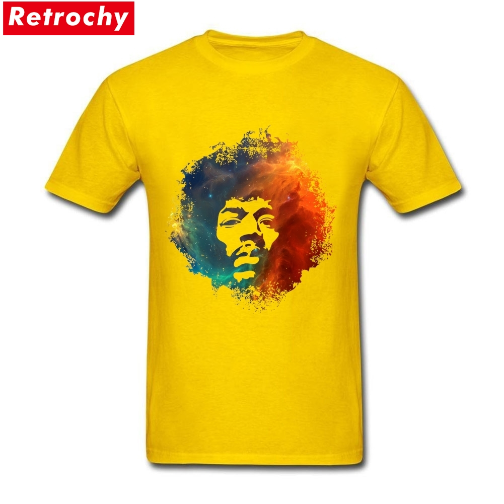 Tee Shirt Design Website Jimi Hendrix Nebula White Short Sleeve