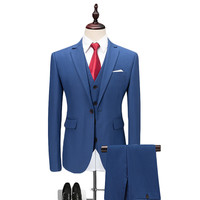 Loldeal Blue Red Gray Purple White Wedding Suits For Men Slim Fit 3 Piece Business Formal Suit 6XL Brand (Jacket+Vest+Pant)