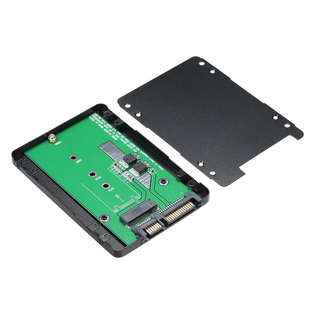 الأسود المعادن SSD الضميمة M.2 NGFF SSD إلى 22Pin 2.5 ''2280 SATA محول بطاقة 7 ملليمتر ارتفاع الصلبة الدولة محركات SSD حالة مرفقات