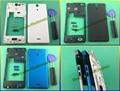 100% New Original Housing Middle Frame plate+Back Battery Cover Case Door+Side Plug+Side Button For Sony Xperia V LT25i LT25