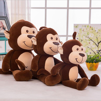 New Style Lovely Monkey Short Plush Toy Stuffed Animal Plush Doll Toys Children Birthday Gift