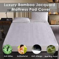 LFH бамбук жаккард водонепроницаемый матрац подкладка крышка глубокий карман матрас Крышка для кровати матрас протектор мателас анти клещи
