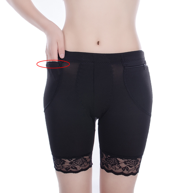 With Zipper Pocket Safety Short Pants Under Skirts For Women Boyshorts Panties Big Size Female Safety Boxer Ladies Underwear in Safety Short Pants from Underwear Sleepwears