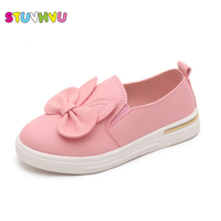 2016 New Spring Autumn Bow Cute Pu Shoes For Girls Candy Color Sets Foot Shoes Princess