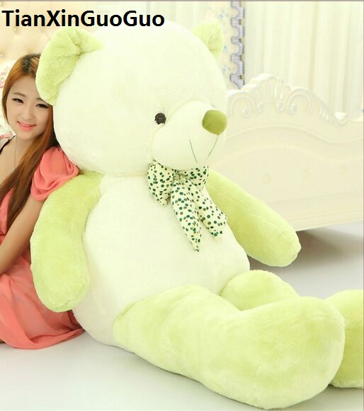 stuffed toy huge 160cm cartoon green teddy bear plush toy soft doll hugging pillow birthday gift b2878 cartoon movie teddy bear ted plush toys soft stuffed animal dolls classic toy 45cm 18 kids gift