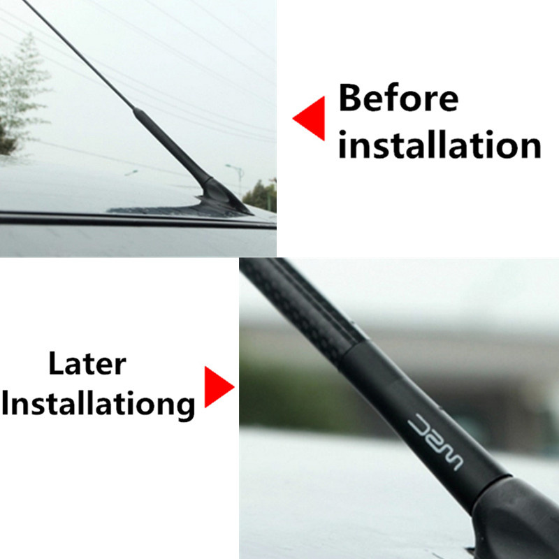 Image 2 - Car Antenna style Carbon Fiber radio fm antena For Renault Koleos Clio Scenic Megane 2 3 Duster Automobile Accessories-in Car Tax Disc Holders from Automobiles & Motorcycles