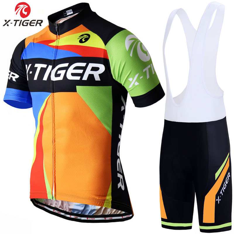 X-Tiger Cycling Set Mans Racing Bicycle Clothing Pro MTB Racing Bike Clothes Maillot Ropa Ciclismo Cycling Jersey