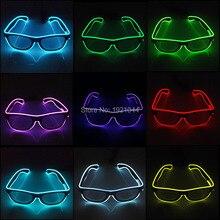 10 цветов выбор мигающий EL wсветодио дный IRE LED очки неоновые светящиеся веревки вечерние светящаяся Вечеринка освещение красочный светящийся подарок для вечерние украшения