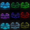 10 Colors Choice Flashing EL Wire Led Glasses Neon Glow Rope Luminous Party Lighting Colorful Glowing Gift For Party Decoration