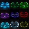 10 colores elección intermitente EL cable Led gafas neón cuerda luminosa fiesta iluminación colorido brillante regalo para decoración de fiesta
