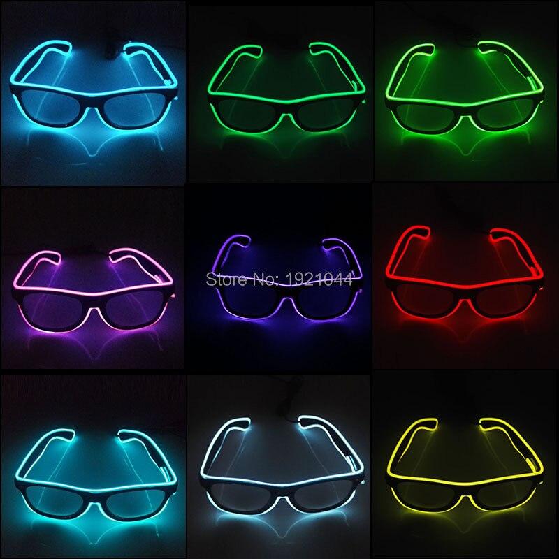 10 farben Wahl Blinkt EL Draht Led Gläser Neon Glow Seil Leucht Partei Beleuchtung Bunte Glowing Geschenk Für Partei Dekoration
