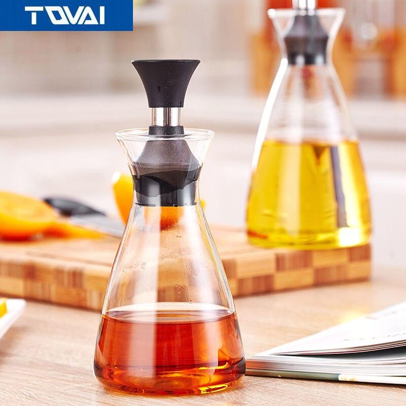 TQVAI-320ml-600ml bottles for oil and vinegar,Oil Leak,Oil Large Kitchen,Kitchen Soy Salt Heat