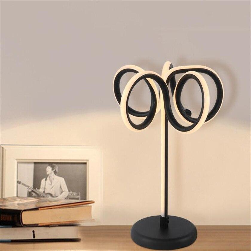 Creative New Table lamp Lustre Art Led Abajur Reading Light For Living Room Bedroom Desk Lamp Acrylic Lampshade Home Lighting