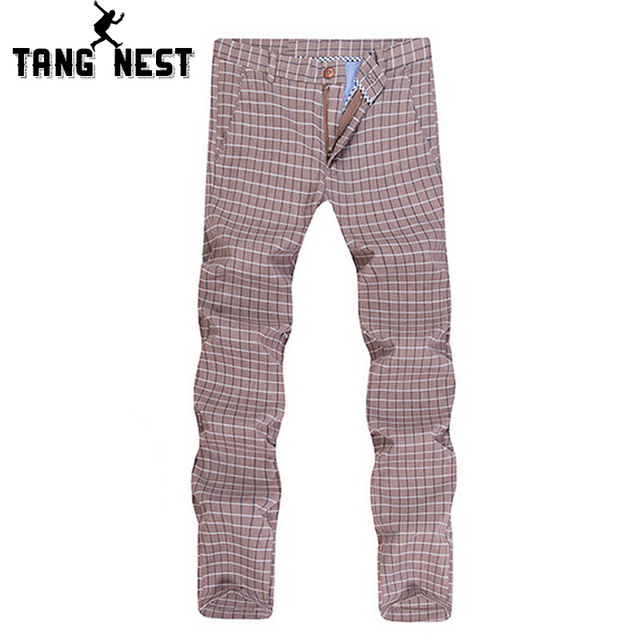 Pull Length Pant 2017 New Design Plaid Classical Vintage Men's Trousers Male Casual Fashionable 3 Colors Suit Pants MKX686