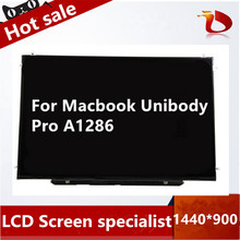 Original A- LCD for Apple Macbook Pro 15″ A1286 LCD LED Display Screen Glossy LP154WE3-TLB2 1440*900 40pin with dead pixels