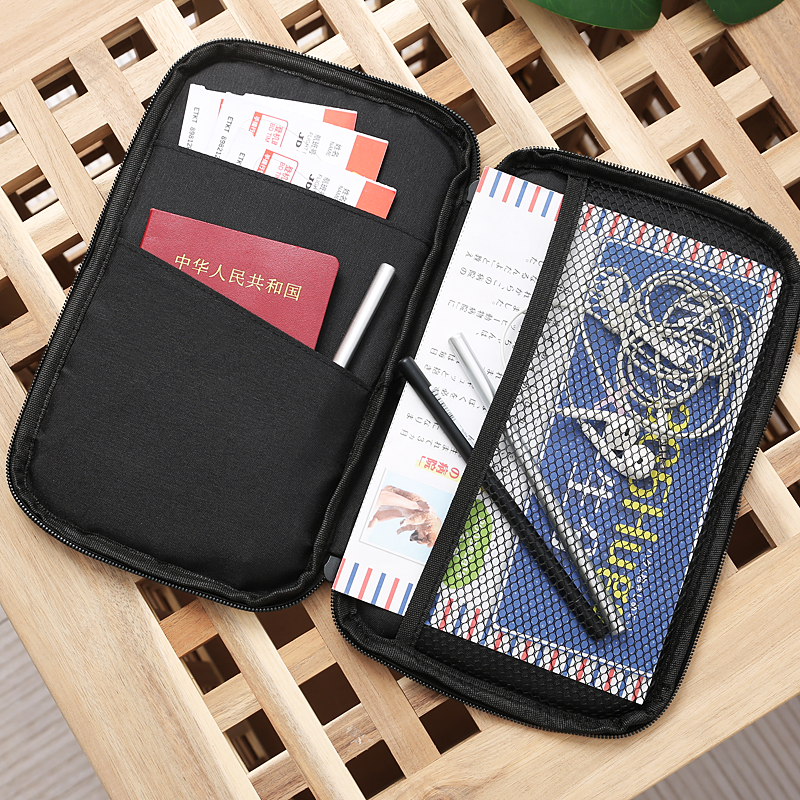 Wallets Card-Holder Coin In-Bag Bill Multi-Functional Large-Capacity Passport Cotton