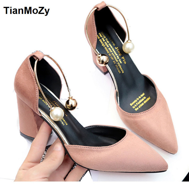 b296ec5afa8 2018 women sandals high heels summer women shoes gladiator sandals block  heels pearl strap women pumps chunky heels shoes
