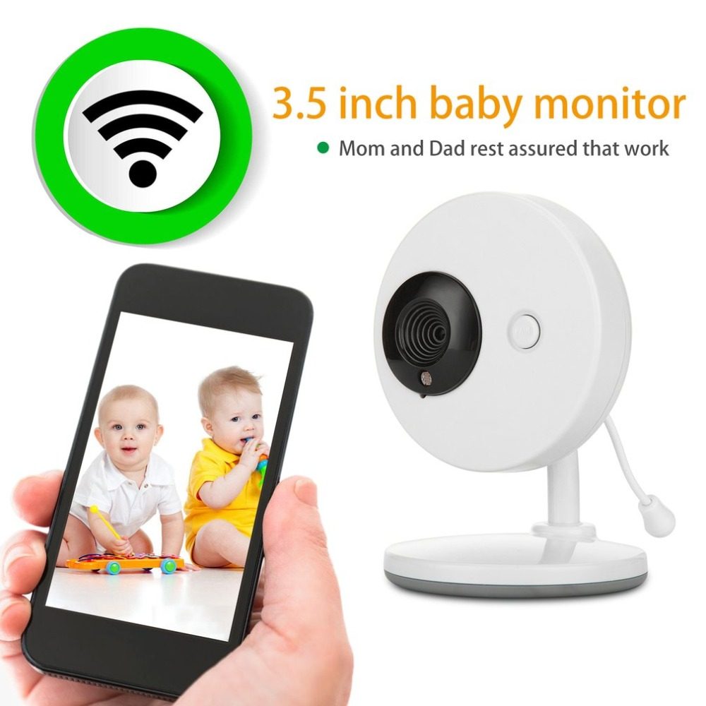 LESHP 3.5 inch 2.4GHz Wireless TFT LCD 2-way Audio Infant Baby Camera Infrared Night Vision Temperature Detection Nanny Monitor