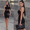 Bevencel 2016 новое прибытие осень платье без рукавов сексуальные два 2 шт. платья бинты платье для торжеств и вечеринок женщины платье vestidos