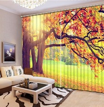 auturn curtains Landscape Scenery Beauty Digital Photo Printing Blackout 3D Curtains for Living Room