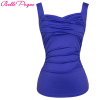 Solid Color Women Tank Tops Sleeveless Sweetheart Neckline Ruched Design Polyester Sexy Female Summer Classic Casual